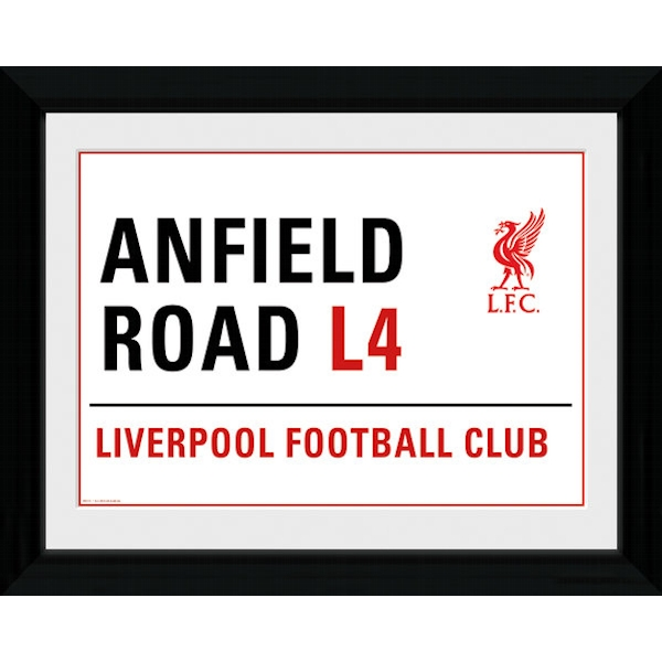 Liverpool Anfield Street Sign Framed 16x12 Photographic Print