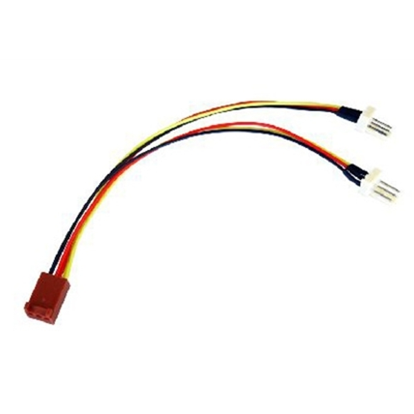 Image of 3-Pin Fan (F) to 2 x 3-Pin Fan (M + M) 0.15m OEM Internal Splitter Cable