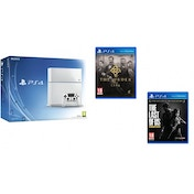 PlayStation 4 (500GB) White Console + The Order 1886 + The Last of Us