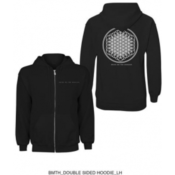 BMTH Flower Of Life Zip Hoodie Black: XXL