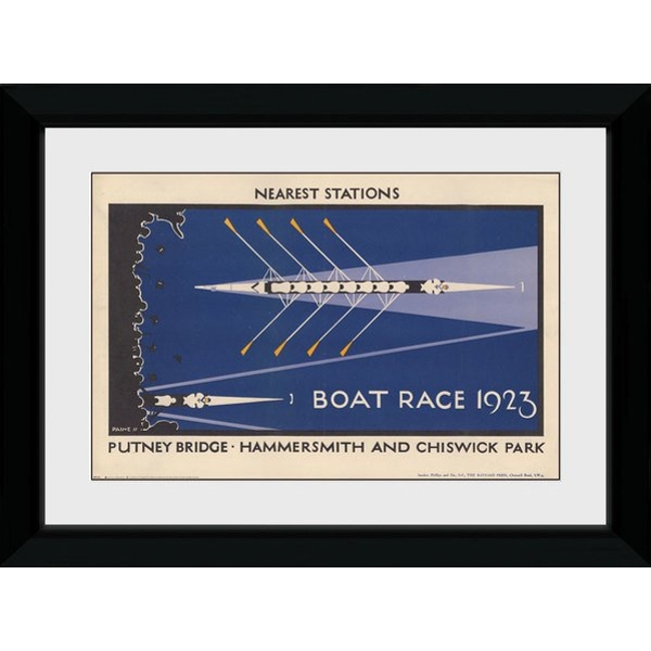 Transport For London Boat Race 50 x 70 Framed Collector Print