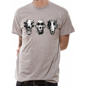 Rampage - Three Skulls Men's Large T-Shirt - Grey