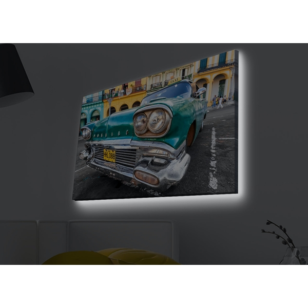 4570MDACT-028 Multicolor Decorative Led Lighted Canvas Painting