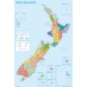 New Zealand Map Maxi Poster