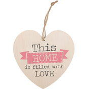 This Home Is Filled with Love Hanging Heart Sign