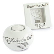 Said with Sentiment Frame & Tea Light Holder Gift Sets You're The One