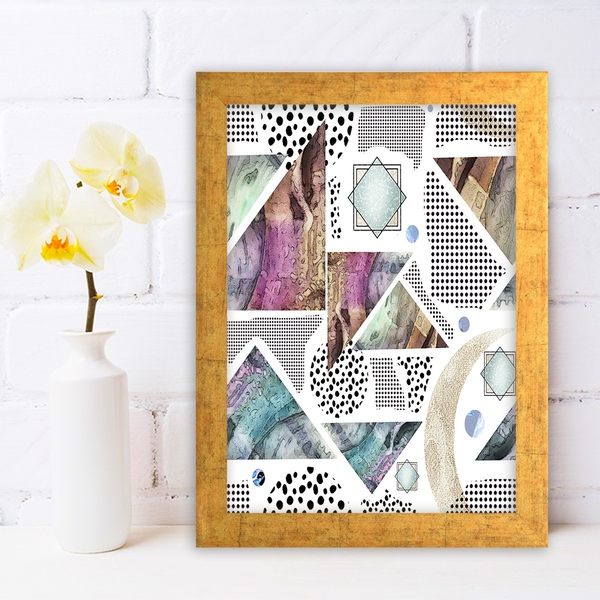 AC650249578 Multicolor Decorative Framed MDF Painting