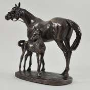 Mare and Foal by David Geenty Cold Cast Bronze Sculpture