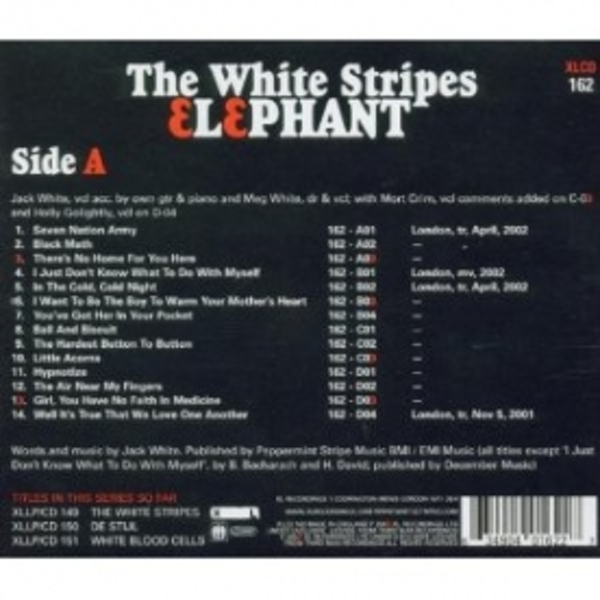 The White Stripes Elephant CD - Image 2