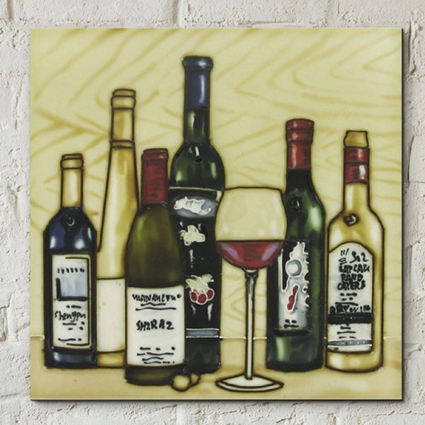 Vinyards Collection Wall Tile By K Andy