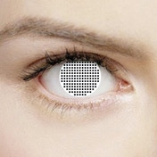 White Mesh 1 Day Halloween Coloured Contact Lenses (MesmerEyez XtremeEyez)