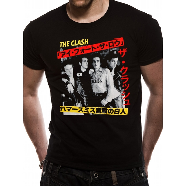 The Clash - Kanji Men's Large T-Shirt - Black