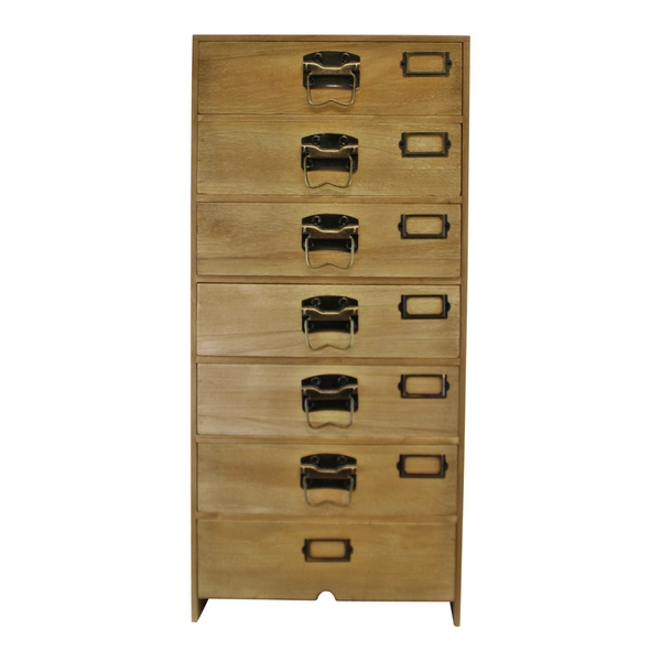 Tall Wooden Chest of Drawers