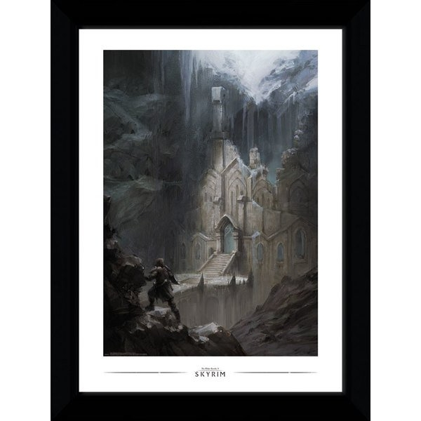 Skyrim Elf Template Collector Print