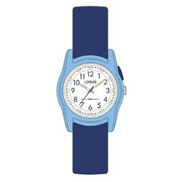 Lorus R2385MX9 Chidrens Analogue Watch - Navy Blue with White Dial