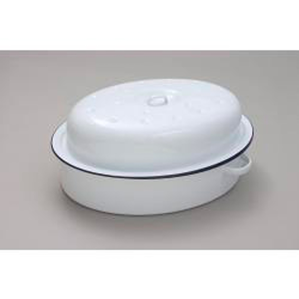 Falcon Falcon Oval Roaster - Traditional White 30cm x 21.5cm x 14.5D
