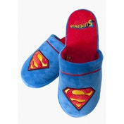 Superman DC Comics Slippers Blue Large (UK 8-10)