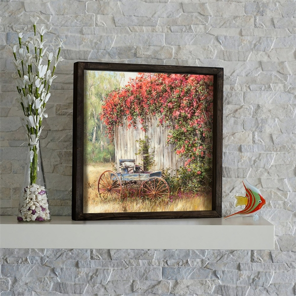 KZM545 Multicolor Decorative Framed MDF Painting
