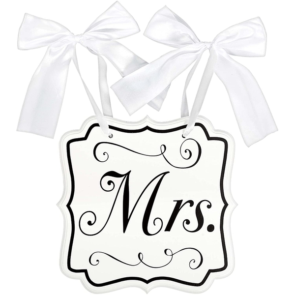Mrs Chair Sign With Bows