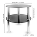 Small Round Glass 2 Tier Table | M&W Black - Image 5