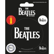 The Beatles - Black Vinyl Sticker
