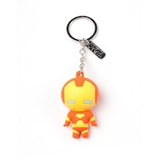 Marvel Comics Iron Man Character 3D Pendant Rubber Keychain