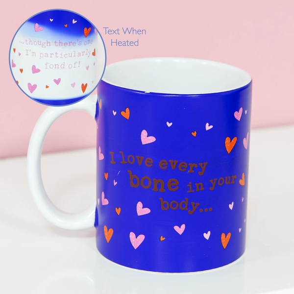 For Your Eyes Only Heat Changing Mug - I Love Every Bone