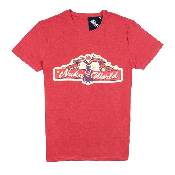 Fallout 4 Nuka World Main Gate Medium T-Shirt - Red