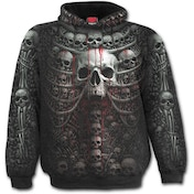 Death Ribs Allover Men's Medium Hoodie - Black