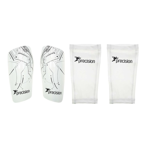 Precision Pro Matrix Shinguards  White/Black - Small