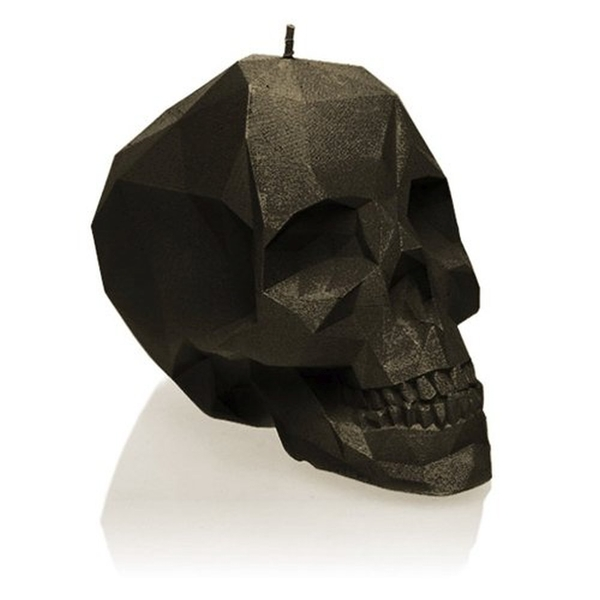 Black Small Low Poly Skull