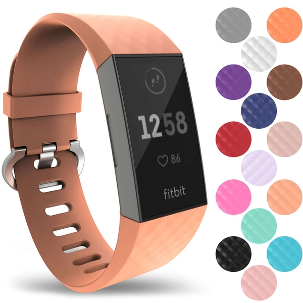 YouSave Activity Tracker Silicone Strap - Large (Peach)