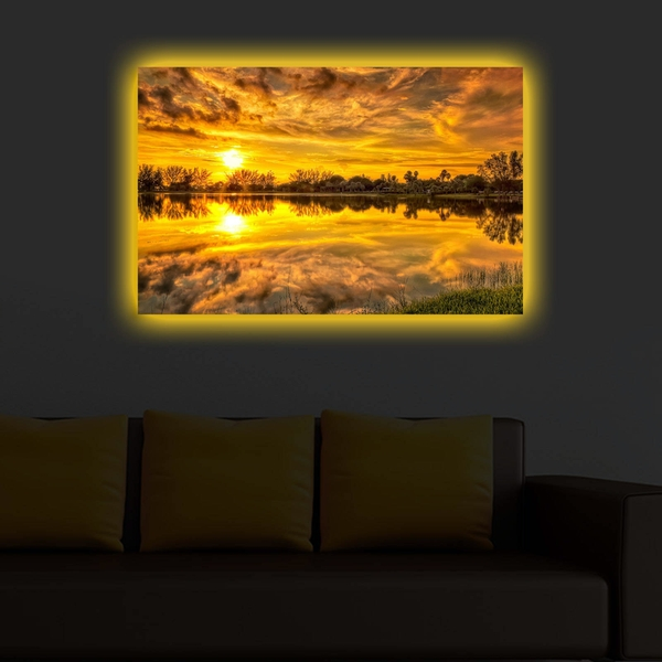 4570DACT-38 Multicolor Decorative Led Lighted Canvas Painting