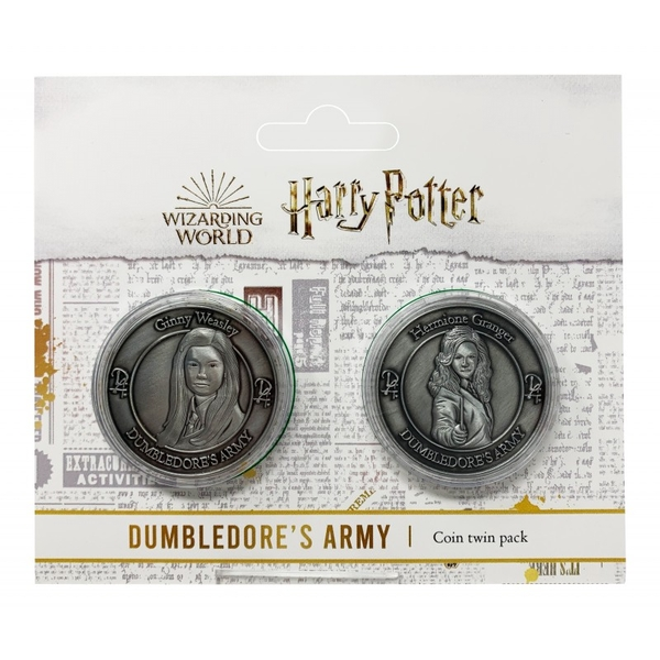 Harry Potter Dumbledore Army Collectible Coin Set (Hermione Granger & Ginny Weasley)
