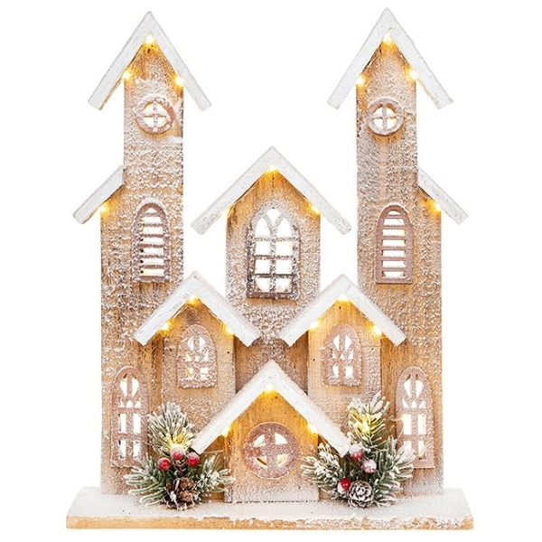 Cosy Xmas Village Large Ornament