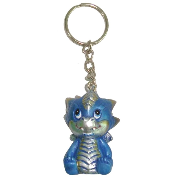 Blue Adorable Dragon Keyring (Pack of 12)