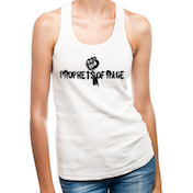 Prophets Of Rage - White Stencil Fist Women's XX-Large Vest - White