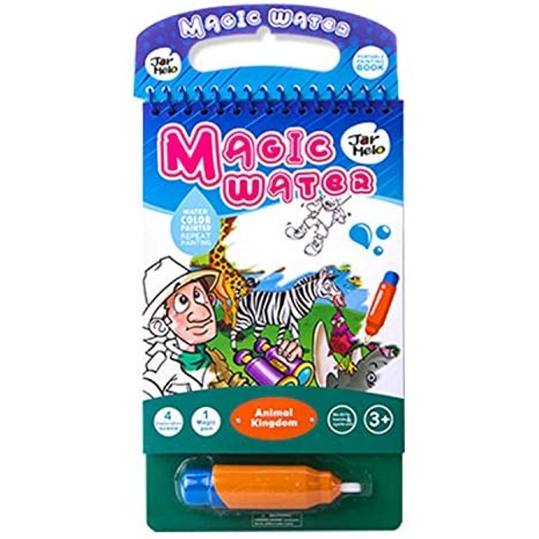 Magic Water Colouring Pad With Water Pen - Animal World