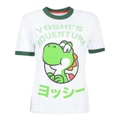Nintendo - Yoshi'S Adventure Women's X-Large T-Shirt - White/Green