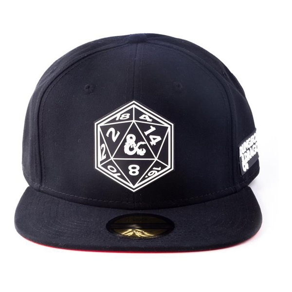 Hasbro - Dungeons & Dragons Dice Patch Snapback Baseball Cap (Black)