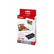 Canon KC-18IF Ink/Label Set for CP SELPHY Printers -18x Credit Card Size Labels
