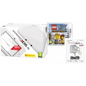 White 3DS XL Console with LEGO CITY Undercover The Chase Begins & Power Adapter 3DS UK Plug