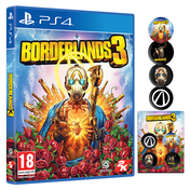 Borderlands 3 PS4 Game + Pin Badge Set (Gold Weapon Skins & Trinket DLC)