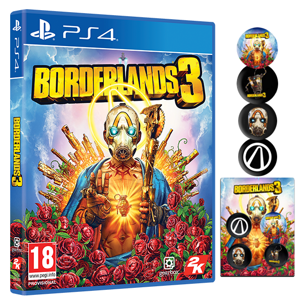 Borderlands 3 PS4 Game + Pin Badge Set