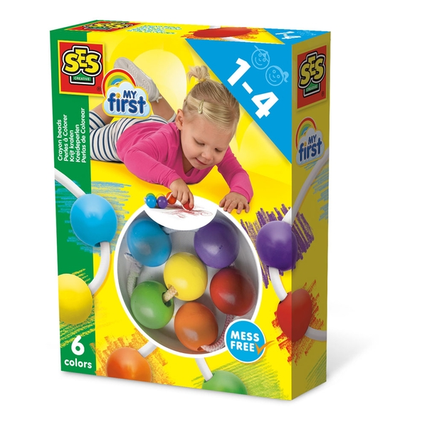 SES Creative - Children's My First Crayon Beads Set (Multi-colour)