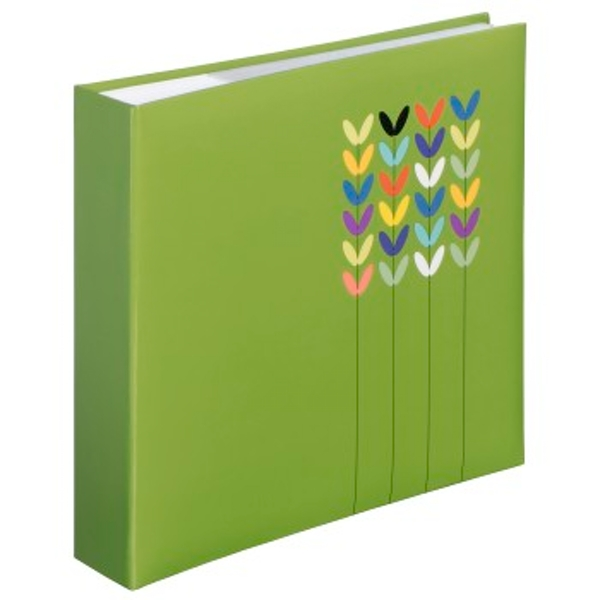 Blossom Photo Album for 200 Photos in 10 x 15 cm Format for 200 Photos Green
