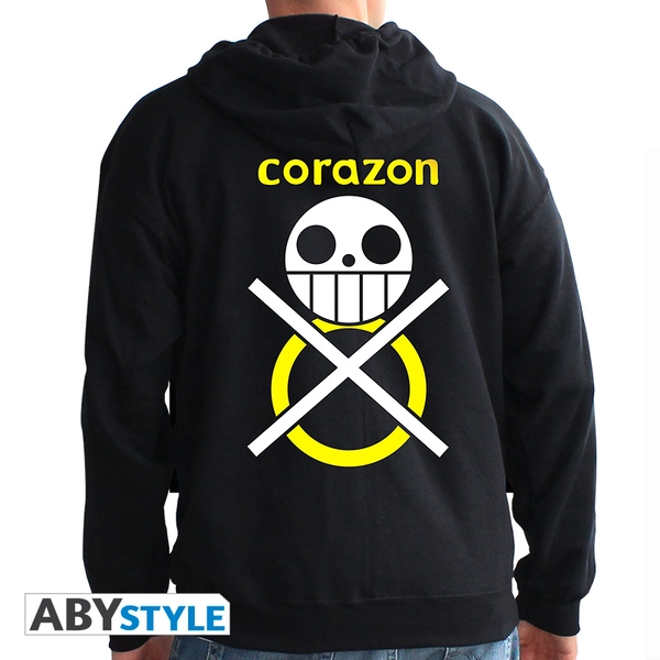 One Piece - Corazon Men's X-Large Hoodie - Black
