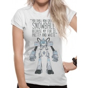 Rick And Morty - Snowball Women's Large T-Shirt - White