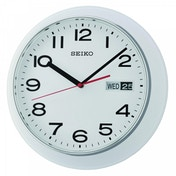 Seiko QXF102H Day & Date Calendar Wall Clock White