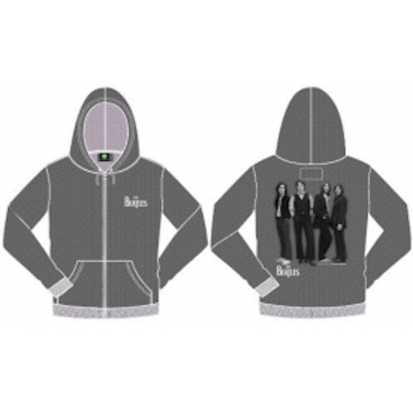 The Beatles White Hooded Top Marl Grey: X Large